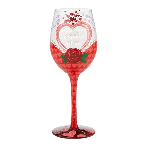 You Have A Special Place In My Heart Wine Glass 6008460