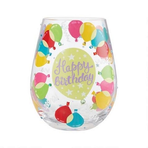 Balloons Stemless Wine Glass 6008682