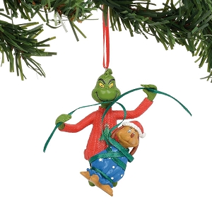Dr. Seuss Grinch Wrapping Max Ornament 6011005
