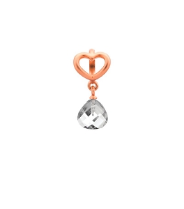 Endless Jewelry Clear Heart Grip Drop Rose Gold 63302-1