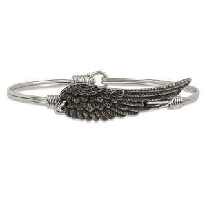 Angel Wing Bangle Silver 7.0