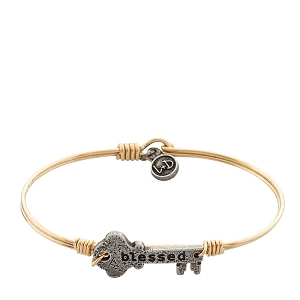 Blessed Key Bangle Brass 7.0