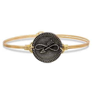 Embrace the Journey Bangle Bracelet Brass 7.0