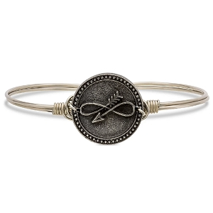 Embrace the Journey Bangle Bracelet Silver 7.5