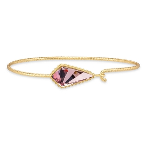 Sloane Bangle Bracelet in Antique Pink 18Kt Gold Plated