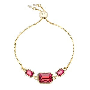 Dylan Slider Bracelet in Scarlet Red 18Kt Gold Plated