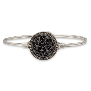 Endless Knot Bangle Bracelet in Jet 7.5