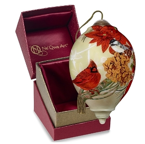 Ne Qwa Christmas Meadow Cardinal Ornament 7191131