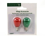 3 Volt Red & Green Bulbs 804457