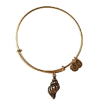 Conch Shell Bangle Rafaelian Gold