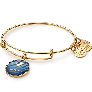Simplify Charm Bangle Yellow Gold