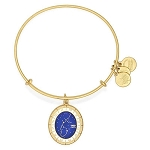 Aquarius Celestial Wheel Charm Bangle Shiny Gold