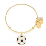 Team USA Soccer Charm Bangle Shiny Gold