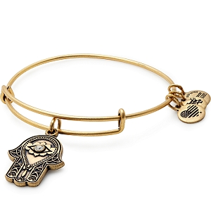 Hand of Fatima Charm Bangle Rafaelian Gold