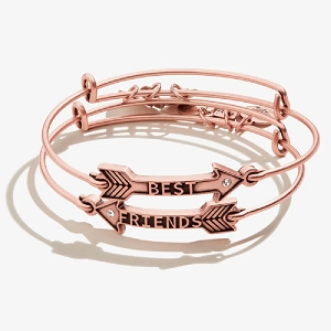 Best Friends Arrow Set of 2 Rafaelian Rose Gold