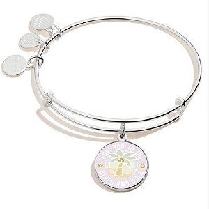 Love You To The Beach and Back Bracelet Shiny Silver