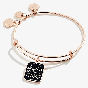 Bride Tribe Charm Bangle Shiny Rose Gold