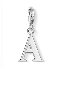Silver Letter A Charm 0175-001-12