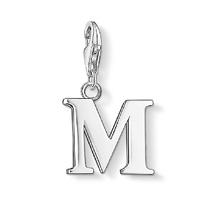 Silver Letter M Charm 0187-001-12