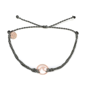 Wave Charm Rose Gold Grey