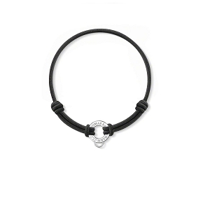 Black Stretch Cotton Charm Bracelet X0099-087-11