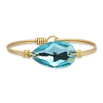 Ophelia Bangle Bracelet in Arctic Blue Brass 7.0