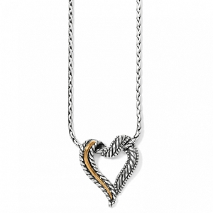 Callie 2-Tone Heart Necklace J4030