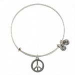 World Peace Expandable Wire Bangle Rafaelian Silver