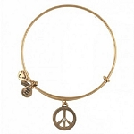 World Peace Bangle Rafaelian Gold