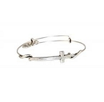 Cross Wrap Bangle Rafaelian Silver