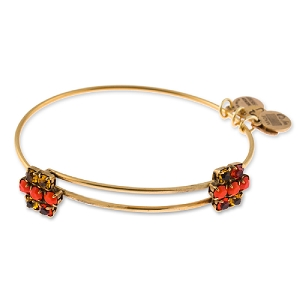 Sparkler Cinnamon Beaded Bangle Rafaelian Gold