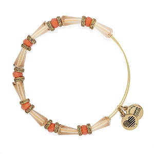 Harmony Beaded Expandable Wire Bangle Sunset