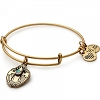 Crystal Dove Charm Bangle Rafaelian Gold