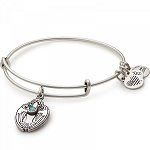 Crystal Dove Charm Bangle Rafaelian Silver