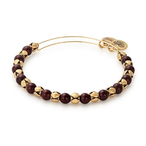 Snowbell Mulberry Beaded Bangle Rafaelian Gold