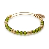 Enchanted Beaded Bangle Swarovski Crystals Shiny Gold