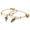 Wings Set of 2 Charm Bangles Rafaelian Gold