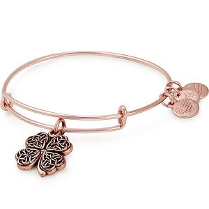 Four Leaf Clover Charm Bangle Rafaelian Rose Gold