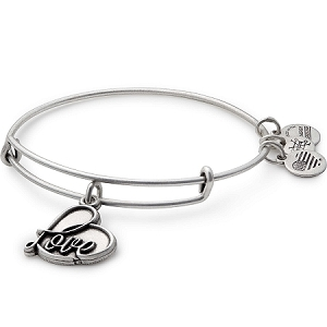 Love IV Charm Bangle Silver