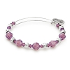 Passion Beaded Bangle Swarovski Crystals Shiny Silver