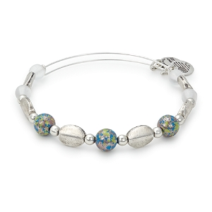 Cosmo Beaded Bangle Rafaelian Silver