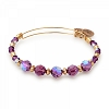 Sugarplum Beaded Bangle Swarovski Crystals Shiny Gold