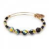 Milkyway Beaded Bangle with Swarovski Crystals Shiny  Gold