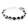 Milkyway Beaded Bangle Swarovski Crystals Shiny Silver