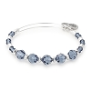 Chill Beaded Bangle with Swarovski Crystals Shiny Silver
