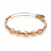 Glow Beaded Bangle with Swarovski Crystals Shiny Gold