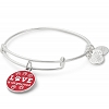 Love is All You Need Charm Bangle Shiny Silver