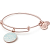 Mind Over Matter Charm Bangle Shiny Rose Gold