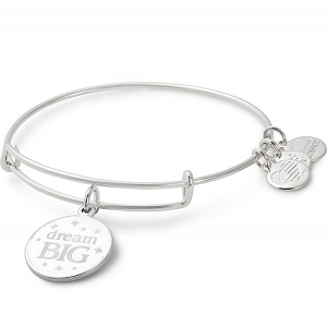 Dream Big Charm Bangle Shiny Silver