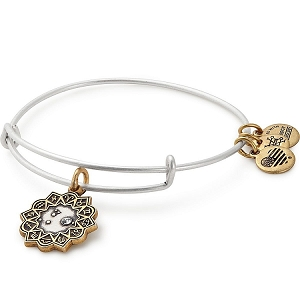Aries Two Tone Charm Bangle